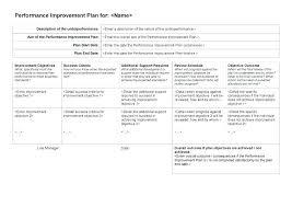 Improvement Plans Templates Academic Performance Improvement Plan Template Templates Examples
