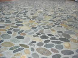 photos of river rock tile flooring