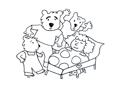 Fairy Tales Coloring Pages For Kids To Print Color Goldilocks And