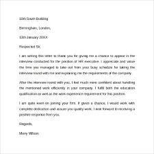 Follow Up Letters After Interview Letters Font