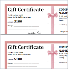 gift certificate for business ms word professional gift certificates word excel templates