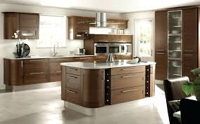 Awesome Modern Open Kitchen Design With Brown Wooden Cabinet And Backsplash  Along Elegant Islandopen Designs Small