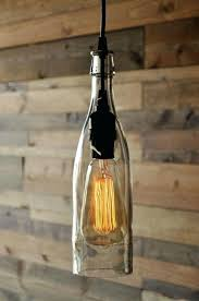 wine bottle pendant light clear wine bottle pendant lamp how to make a wine bottle pendant lamp