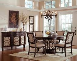 dining room pottery barn round table with decorative