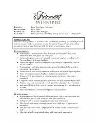 Hotel Front Desk Clerk Resume Sample Resumes Templates Help Agent