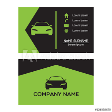Business Card Design Template For Car Automotive And