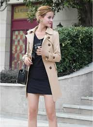 best fashion trench coat las clothes formal casual lapel neck double ted belt women s coats misses wear spring autumn women clothes under 20 9