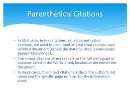 parenthetical citation in mla format mla format works cited ppt video online download