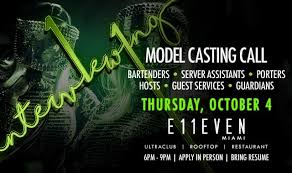 Bottle Service Resume Adorable Model Casting Call Tickets At E48EVEN Miami In Miami By 48 Miami Tixr