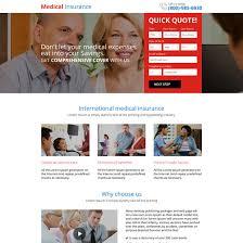 best cal insurance responsive mini landing page design health insurance example