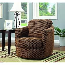 swivel living room chairs. Perfect Swivel Coaster Casual Brown Upholstered Swivel Accent Chair For Living Room Chairs L