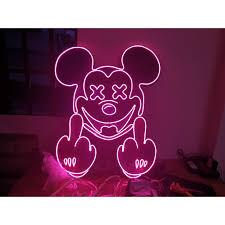 Đèn Trang Trí Led Neon Sign CHUỘT MICKEY uốn chữ, hình theo yêu cầu giảm  tiếp 2,300,000đ