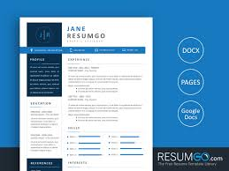 Modern Resume For Freshmen Natasa Blue Modern Resume Template Resumgo Com