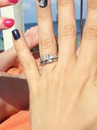 1 carat diamond size any size 7 fingers with engagement rings around 1 carat