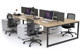 office workstations desks. Litewall Evolve - A Modern Office Workstation Desk For 4 People [1200L X 800W] Workstations Desks K