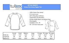 Tultex Size Chart Tultex 3 4 Sleeve Baseball T Shirt Plain Raglan Jersey Mens
