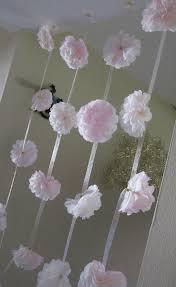 Paper Flower Garland Paper Flower Garland Decor Blush Paper Flower Garland Baby Shower Garland Decoration Flower Backdrop Party Decor Backdrop