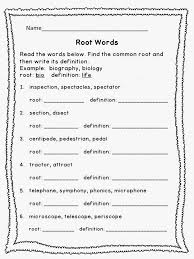 Root Words 4Th Grade Language Arts Worksheets Worksheets for all ...