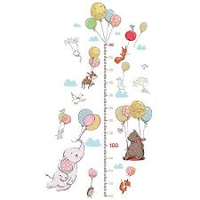 Height Charts Bibitime Monkey Growth Chart Wall Decal Flower