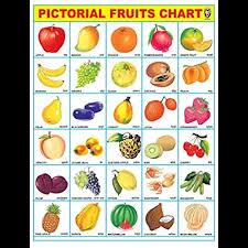 Ibd Pre School Toddlers Educational Fruit Chart Pvc
