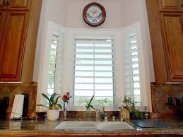 thermalite shutters over sink in kitchen humid bay window bay window shutters interior