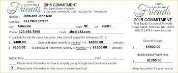 Now Donation Pledge Card Template Bring It Up Top Church