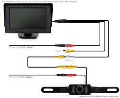 wireless reverse camera wiring diagram how to install with module Cam Wiring Diagram wireless reverse camera wiring diagram car van truck reversing ir camera 4 3 inch lcd rear view diy car wiring diagrams free