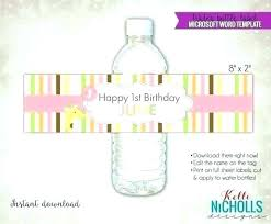 Water Bottles Templates Mini Water Bottle Label Template Bottle Cover Template