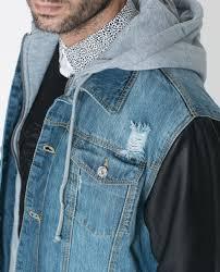 zara mens denim jacket leather sleeves cairoamani com