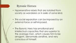 byronic heroes assignment byronic