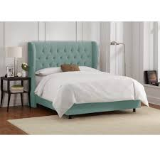 caribbean bedroom furniture. Skyline Furniture Tufted Wingback Bed In Velvet Caribbean - Free Shipping Today Overstock 17734707 Bedroom