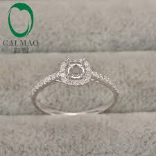 traditional can fit 4mm round cut center gem stone 10k white gold diamond anniversary ring