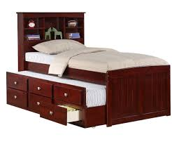 Manhattan Bedroom Furniture Manhattan Twin Size Bookcase Captains Trundle Bed Cappuccino