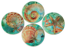 Nautilus Seashell Oversized Cabinet Knobs, 4-Piece Set - Beach ...