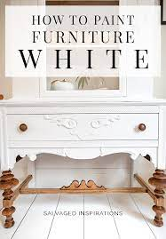 how to paint furniture white salvaged