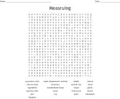 Culinary Math Conversion Chart Culinary Arts Word Search Wordmint