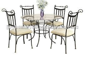 wrought iron furniture indoor. Modren Iron Indoor Wrought Iron Dining Table And Chair Set  See Larger Image Throughout Furniture O