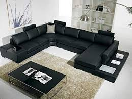 black sectional sofa. Delighful Black T35 Modern Black Sectional Sofa With 3 Headrests Inside N