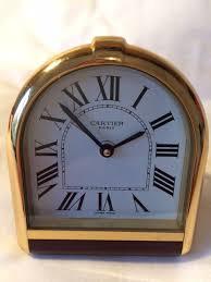 cartier must de cartier romane clock vintage desk clock