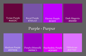 Violet Colour Chart Nordljus May 2011 Purple Colour Shades Purple Color