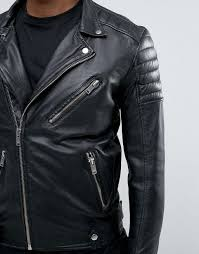 selected homme leather biker jacket black men jackets selected jeans selected aro polo shirt
