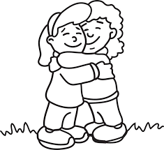 hug clipart black and white. hug clipart black and white i