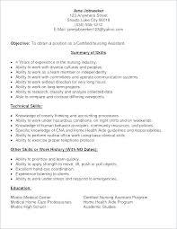Resume Sample For Cna Skills Resume Sample Resume Sample Nursing