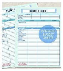 Personal Financial Budget Sheet Printable Monthly And Weekly Budget Sheet Weekly Budget Template