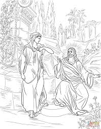 Small Picture Jesus and the Samaritan Woman at the Well coloring page Free