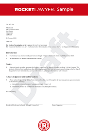 Contract Termination Letter Uk Template Make Yours For Free