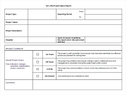 Sample Weekly Project Status Report Template Executive Altpaper Co
