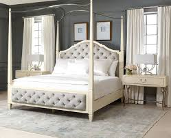 upholstered canopy bed savoy place queen poster bed cassimore pearl silver upholstered poster canopy bedroom set