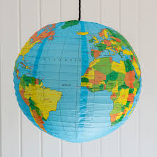 Lampenkap Met Wereldkaart Dotcomgiftshop