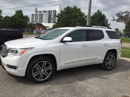 2018 gmc acadia denali. beautiful acadia white frost tricoat 2018 gmc acadia left side photo in oshawa on for gmc acadia denali